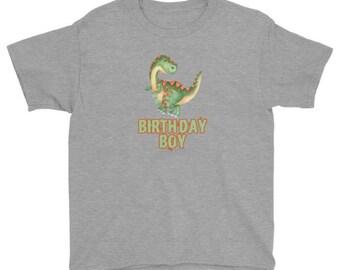 Dinosaur Birthday Boy T-shirt, For Kids
