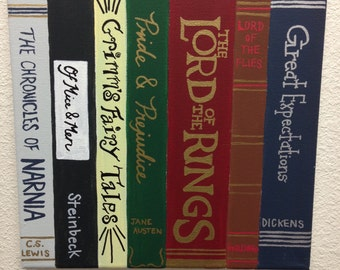 Library Books Painting