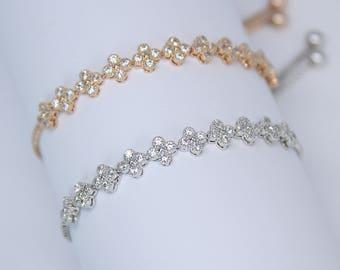 Clover Cubic Zirconia Bracelet Cocktail Bracelet Best Gifts For Her