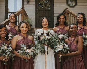 Fall   Summer   Spring BRIDESMAID Dresses!! Floor length, flattering, elegant high neckline with flowing full skirt. 120 each OR 500 for 6!