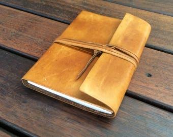 Wraparound Leather Pocket Journal