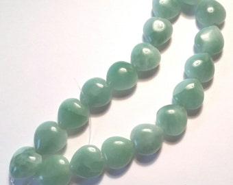 Natural Amazonite Heart Shape Beads