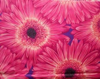 The Woodrow Studio Blooming Glory Cotton Fabric, Pink Sunflower, Fat Quarter