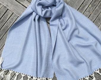 Handwoven Silk and Merino Shawl