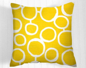 YELLOW  Pillow Cover- Decorative Pillows   -  Decorative Throw Pillow- Pillow Covers   Accent Nursery
