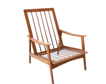 Vintage Mid Century Modern High Back Lounge Chair - 2 in stock