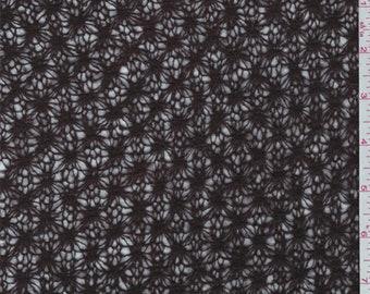 Walnut Brown Lattice Wool Blend Sweater Knit, Fabric By The Yard