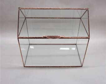 OUR House Large Wedding Card Box, with Slot Option, Card Box, Terrarium, Display Case, Glass Box