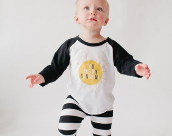 BABY and TODDLER Leggings - Black and White Stripes