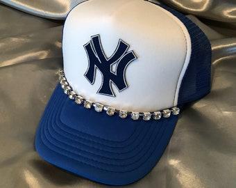 Yankee's, Bling Trucker Hats, New York Yankee's, Bling Cap, Trucker Hats, Baseball Cap, Women's
