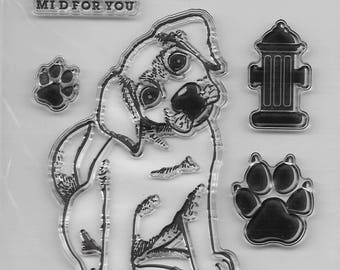 Dog's Clear Stamp Set #1  -- NEW -- (#2463)