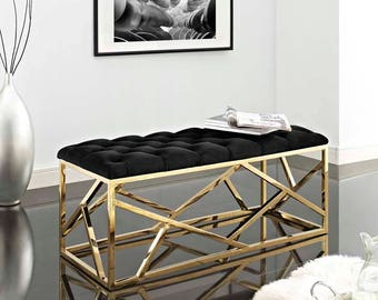 INTERSPERSE BENCH : Modern contemporary entrance way  bedroom seating Ready to ship!