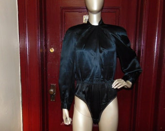 Silk Black BodySuit