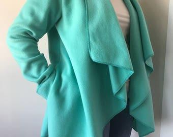 Cozy Fleece Wrap Jacket- Spearmint