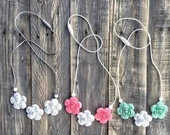 Silicone Beads Teething Necklace / Nursing Necklace Jewelry for Mom and Baby Shower Gift - LUST