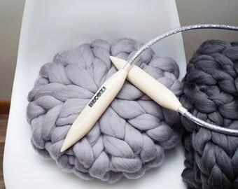 Giant Knitting Needles, Circular Knitting Needles, Wooden Knitting Needles, Big Circular Needles