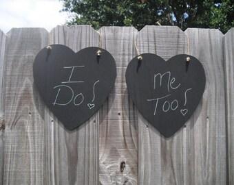 Heart Chalkboard - ONE Hanging Heart Chalkboard Sign - Item 1088