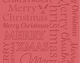 """Craft Concepts MERRY CHRISTMAS - 4""""x6"""" Embossing Folder"""