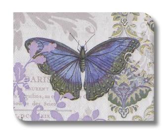 Paper napkin for mixed media, collage, decoupage, scrapbooking (cocktail)  x 1 Vintage Butterfly. No 1212