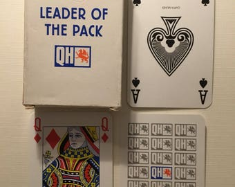 Commercial company, QH, Plastic coated, playing cards.