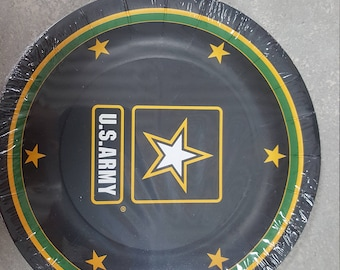 US Army Party Plates/USA Army Party Plates/Official US Army Logo Party Dessert Plates