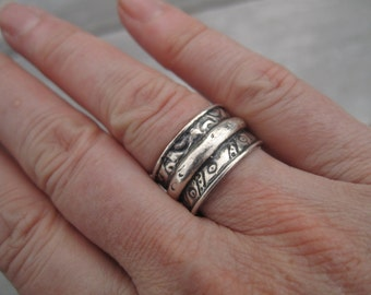 Rustic Sterling Ring - 14