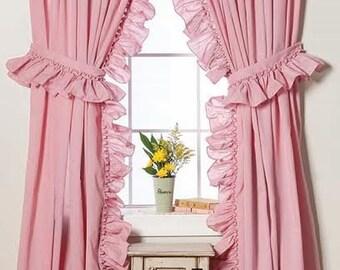Priscilla Cottage Ruffled Curtains