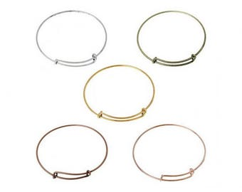 5 colors 5 adjustable Bangle bracelets
