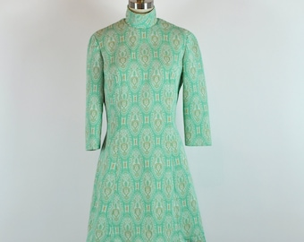 Vintage des années 60 Mod Jade robe 32 taille taille moyenne