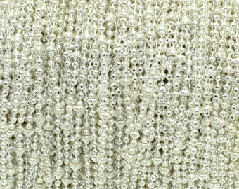 Fancy 1.5 mm silver colored brass ball chain