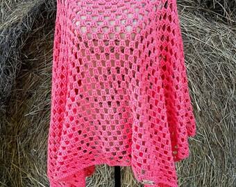 Crocheted Granny Square Poncho