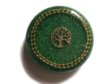 Tree of Life | Orgone | Charging Plate | Puck | Coaster | Meditation | Reiki | Towerbuster | EMF | Paperweight | Spiritual Art | Quartz