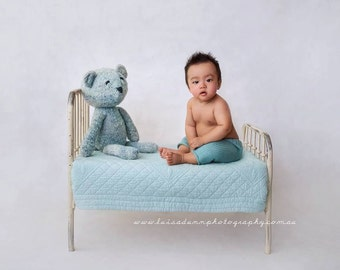 Child Photo Prop Shabby Chic Style Iron Photography Bed