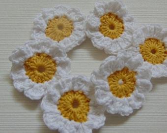 Set Of 6 Crochet Daisies