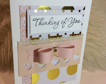 """Thinking Of You 5x7"""" Greeting Card Handmade"""