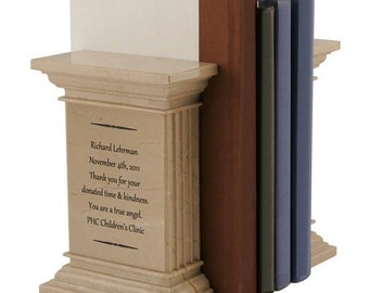 Personalized Marble Column Bookends