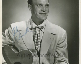 Eddy Arnold country music singer w guitar vintage hand signed autographed photo