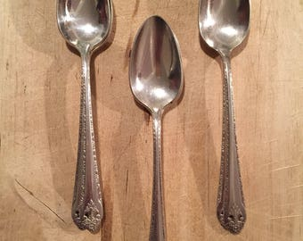 6 Holmes & Edwards Lovely Lady Teaspoons