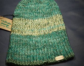 Green madness hat, Winter hat, Hand made hat, Knitted hat, Warm Hat