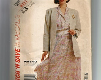 McCall's Misses' Unlined Jacket and Dress Pattern 4211