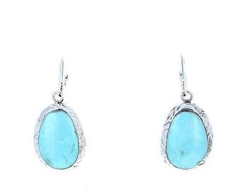 40% Off Earring Sale : ) TURQUOISE EARRINGS Robins Egg Blue Sterling Southwest NewWorldGems