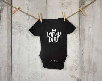 Dapper Dude One Piece Body Suit  | Baby Boy | Snap Body Suit | Baby Shower Gift | Baby Gift | Custom Creeper | Snapsuit | Bowtie