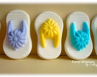 10 FLIP FLOP SOAP {Favors} - Spring Soap Favor, Birthday Party Favor, Wedding Favor, Luau Favor, Beach Party, Sandal Soaps, Baby Shower