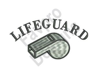 Lifeguard Whistle - Machine Embroidery Design