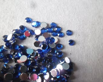 Navy blue x 100 color faceted rhinestone stick 3 mm