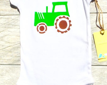 Kids - Farm Tractor - Construction Truck - Toddler T-Shirt or Baby Onesie