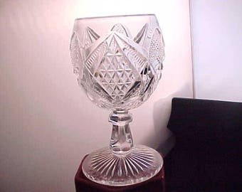 Antique Goblet Pennsylvania Goblet by U.S. Glass Company Circa 1897, Early American Pressed Glass State Series, Collectible EAPG Wine Glass