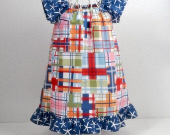 Toddler Dress Peasant Style Flutter Sleeve Dress Beach Dress Summer Dress