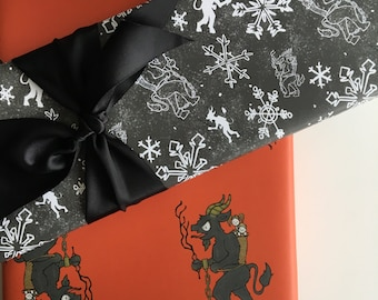 Krampus Gift Wrap - Set of 3 sheets