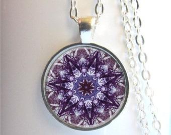 Mandala Necklace, Art Pendant, Mandala Jewelry, Yoga Jewelry, Mandala Pendant